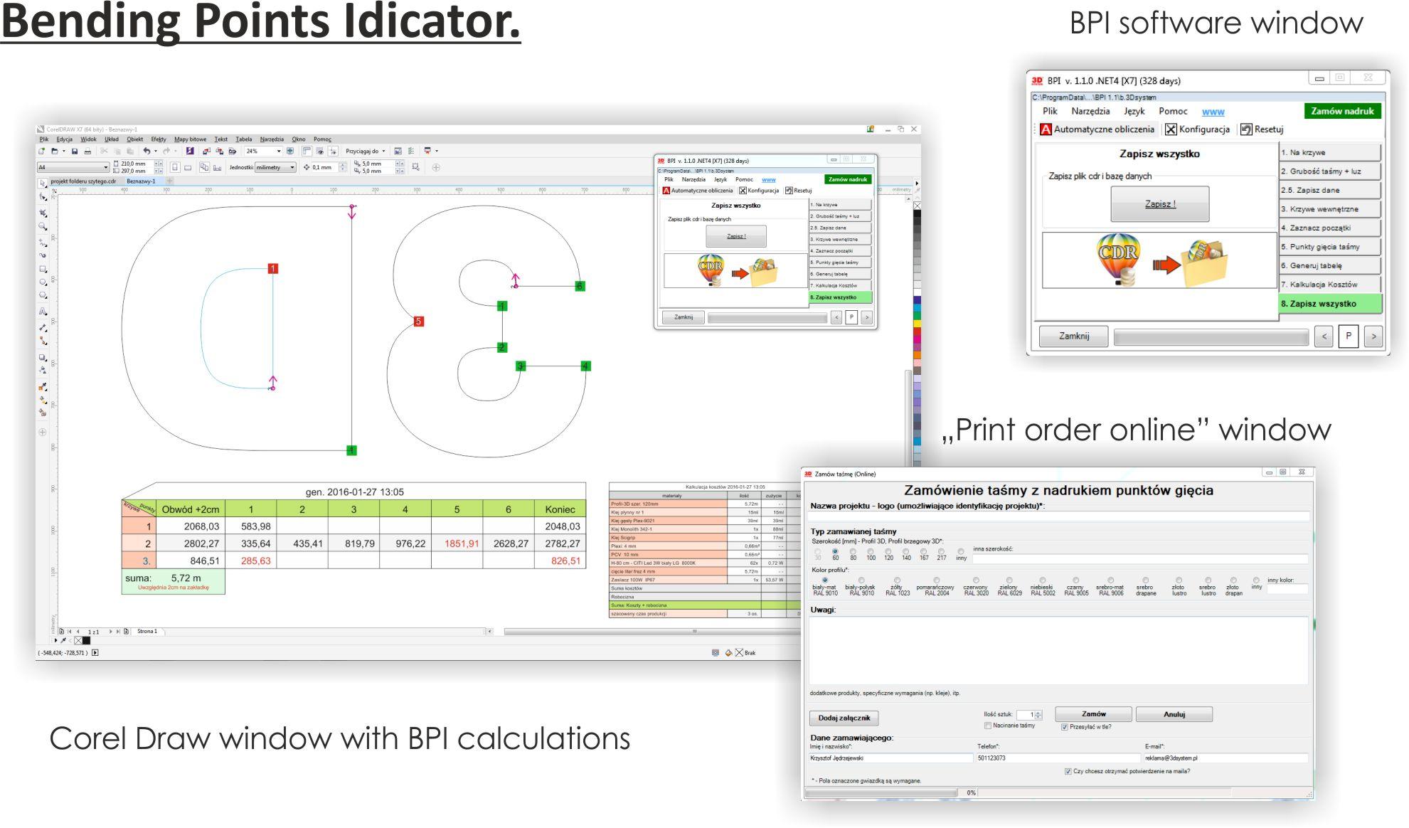 Software Bending Points Indicator