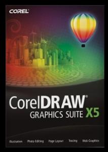 zdjęcie pokazujące okładkę programu Corel Draw X5